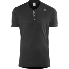 Aclima LightWool Henley Shirt Heren, jet black/iron gate